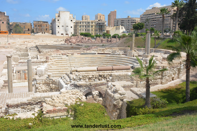 roman amphitheater Alexandria egypt