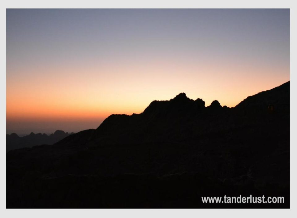 Sunrise at Mount sinai