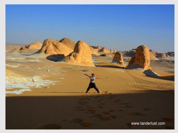 white Egyptian desert
