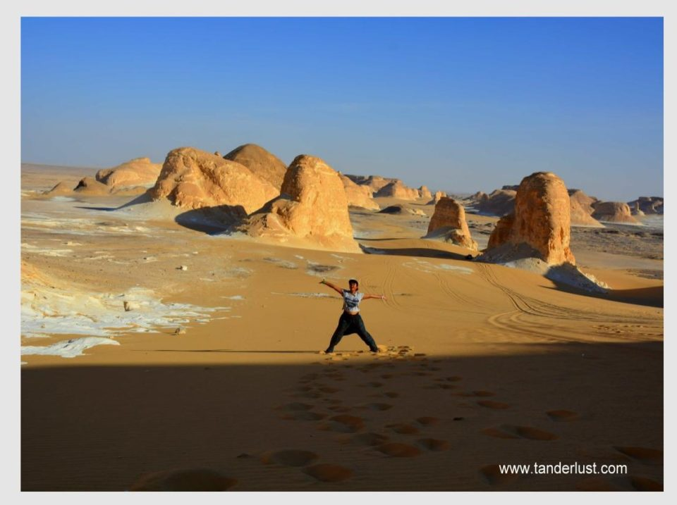 white Egyptian desert