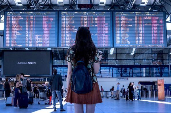 checking flight tickets