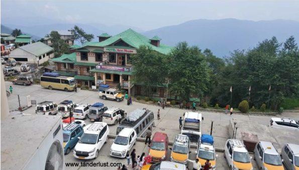 parking outside siddheshvara dham