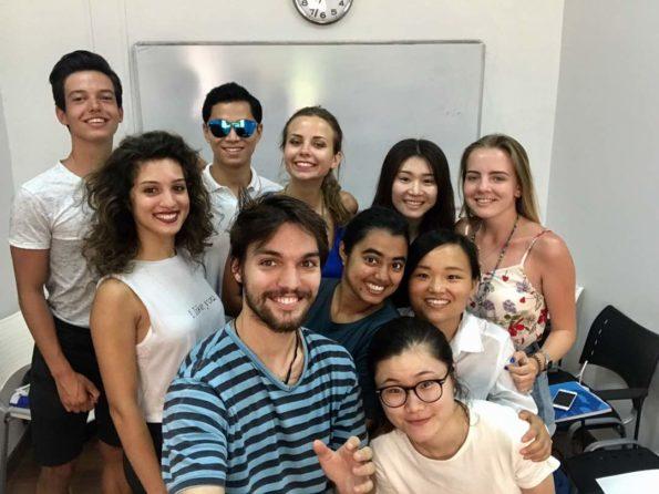 classmates in Valencia