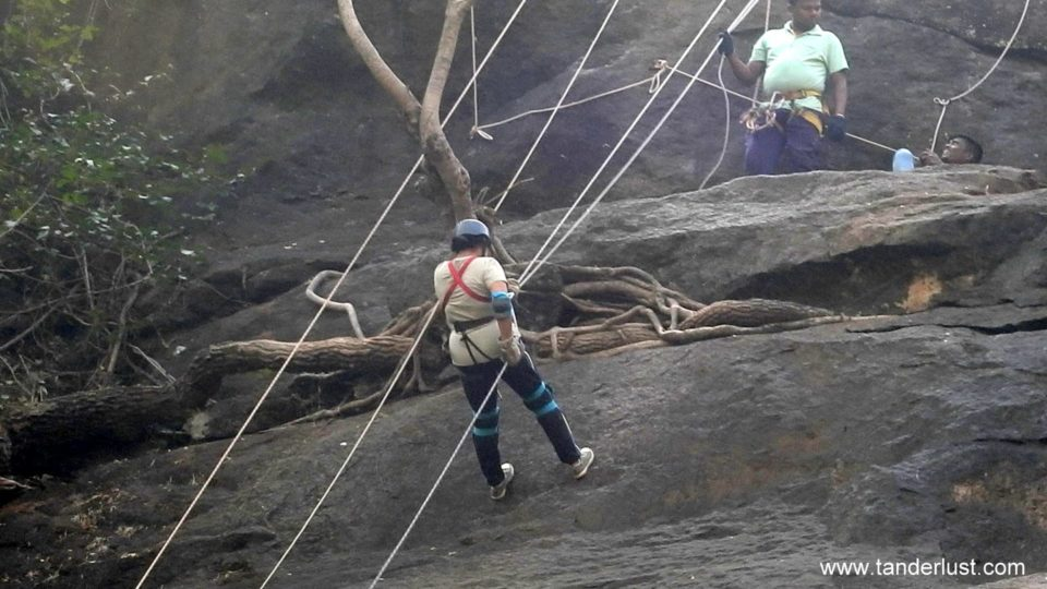waterfall rappelling at dabhosa